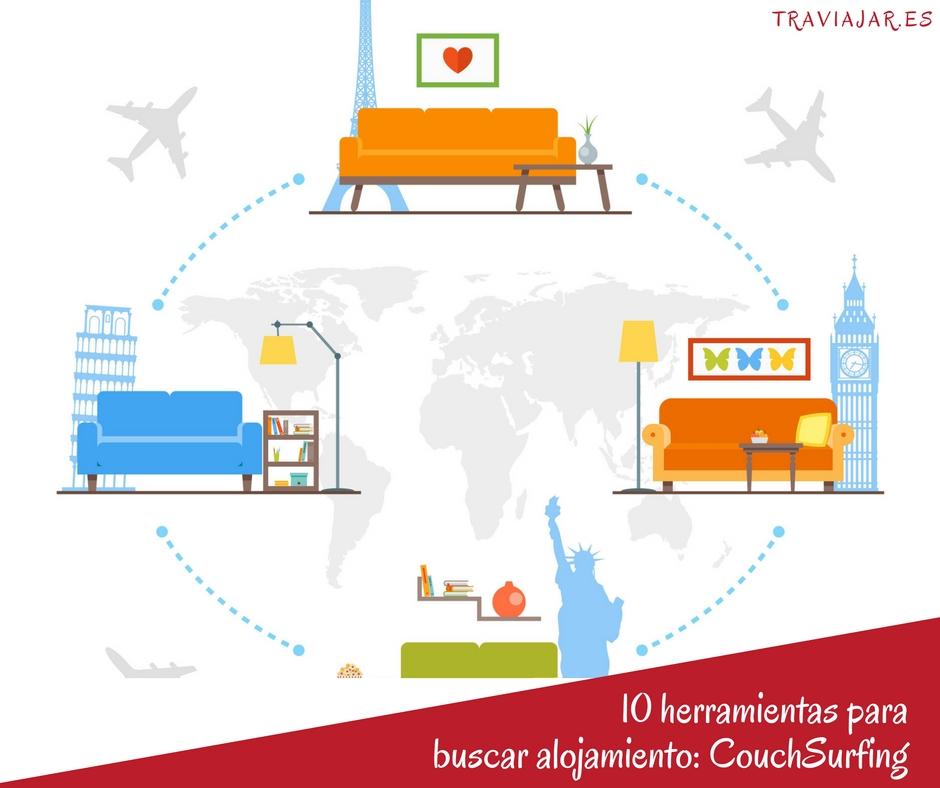 Buscando alojamiento en couchsurfing