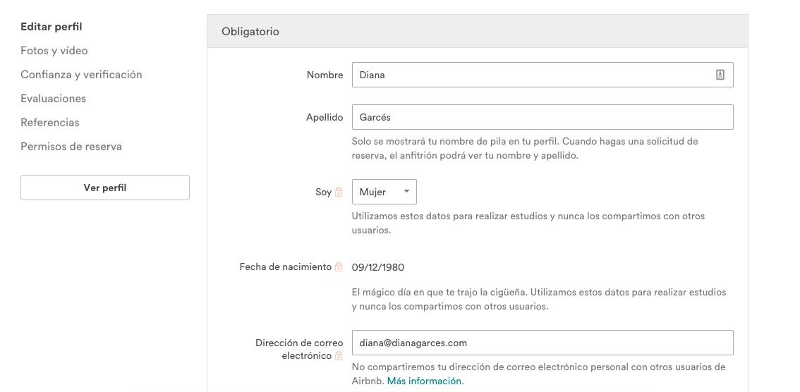 Aribnb registro